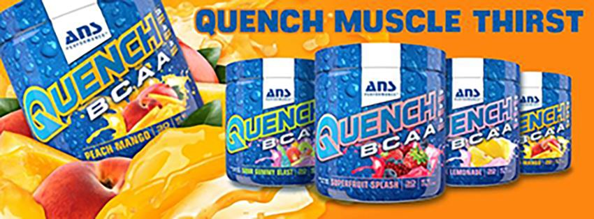 ANS QUENCH BCAA 能量飲品(蜜桃芒果)上市囉!